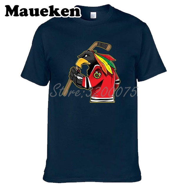 Men Chicago Fans Blackhawks 100% cotton T Shirts Tees Shirt O Neck Cotton Short Sleeve t shirt W19031511