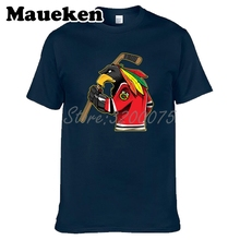 남자 시카고 팬 blackhawks 100% 코 튼 t 셔츠 티셔츠 o 목 코 튼 반소매 t 셔츠 w19031511