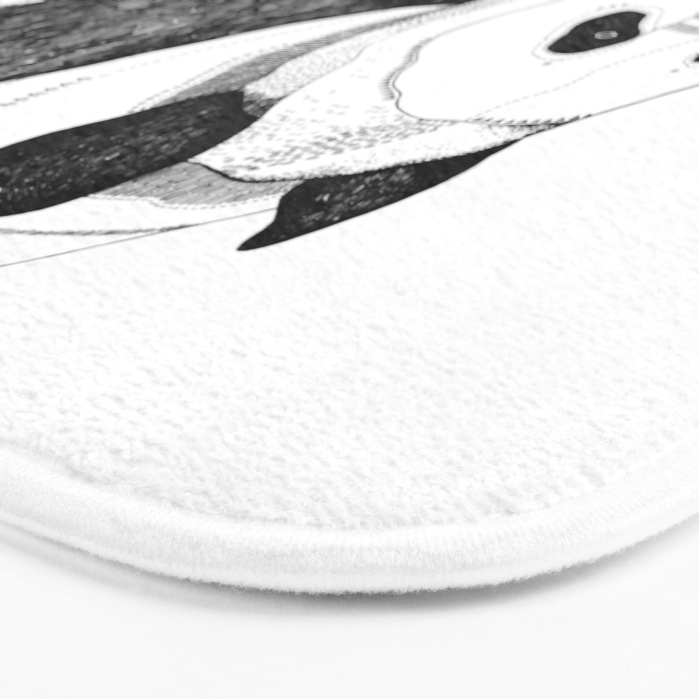 Panda Bath Mat 17 x 24 Printed Carpets Anti Slip Modern Kitchen Rugs Home Decor