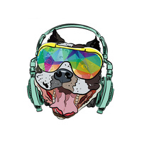 Iron On Patch Pop Bulldog A Level Washable T Shirt DIY Decoration Parches Ropa 2018 New Easy Print By Household Irons Parches