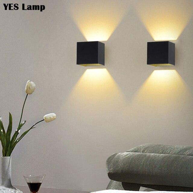 Led 벽 램프 6 w 디 밍이 가능한 머리맡 sconces 110 v 220 v 거실 연구 계단 실내 조명기구 호텔 통로 장식