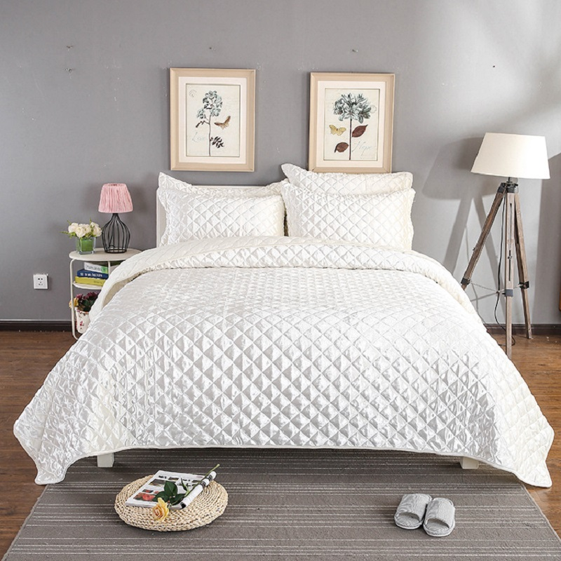 Luxury Bedspread Queen size Bed Cover set Coverlet Bed set Summer Comforter Blanket Pillowcases 3Pcs set