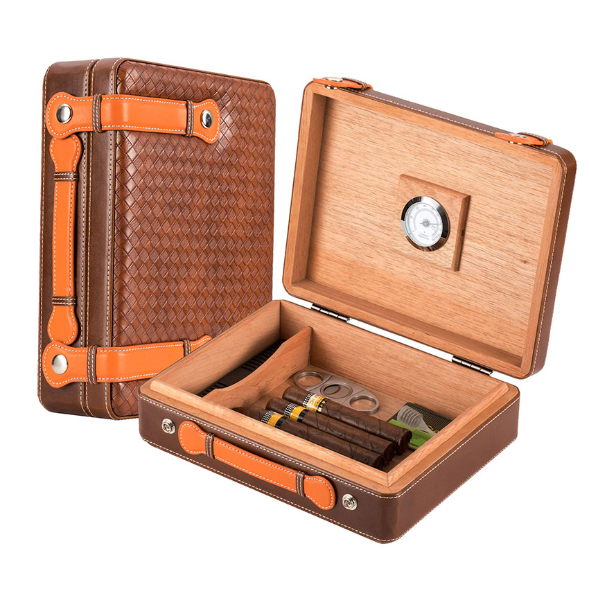 Scotte Portable Travel Cigar Humidor Case (Holds up to 50 Cigar) Сигара