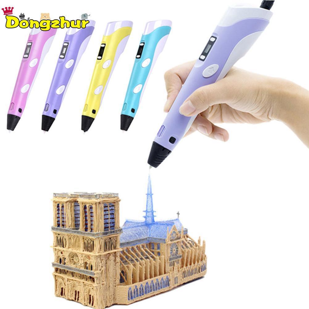 Bescheiden Dongzhur Crafting Abs/pla 1st 1.75mm Diy Led Display 3d Printing Pen Creatief Cadeau Voor Kinderen Ontwerp Schilderen Kids Tekening Gereedschap