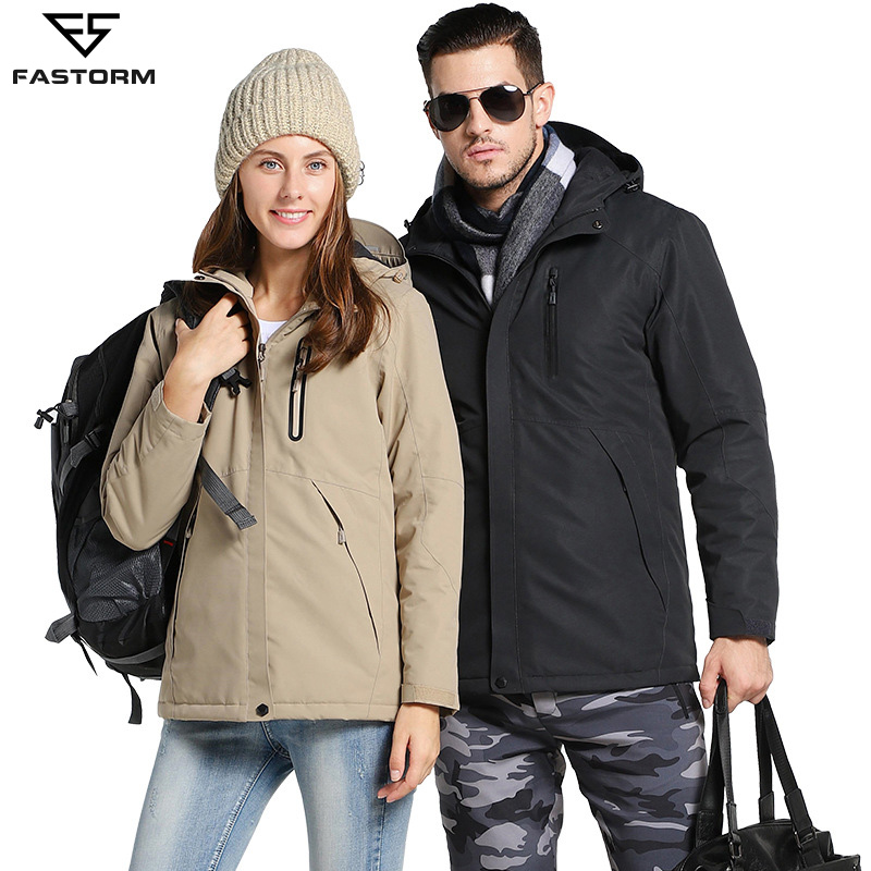 FASTORM thermique USB Intelligent veste de randonnée chauffée hommes coupe-vent extérieur étanche chaud hiver Couple manteaux vestes de voyage