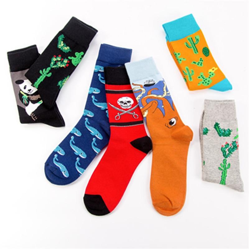 Bright Cute Animals/plants Printing Pattern Art Socks Women Korean Panda/cactus/sloth Socks Funny Socks Kawaii Sokken Calcetines Meias Socks Underwear & Sleepwears