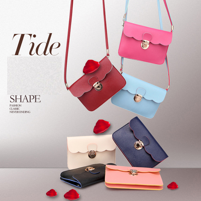 Woman Candy Colorful Bags 2016 New Handbags Fashion Small Crossbody Bag Shoulder Fresh Style Woman Candy Colorful Bags Baa30258