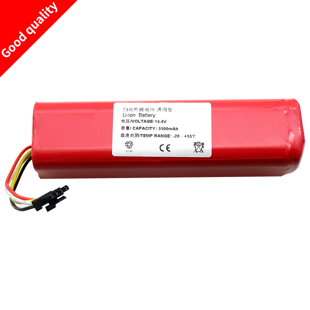 5500mAh li ion 18650 battery for xiaomi mi vacuum robot Robotics cleaner mi robot Vacuum Cleaner accessories roborock S50 S51