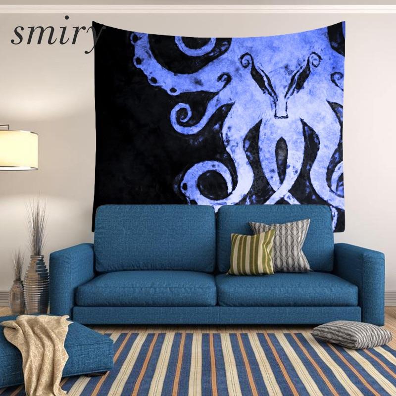 Smiry Tapisserie Octopus muster Marine tier Tapisserie Strand Werfen Handtuch Yoga Teppich Wandbehang Gobelin Home Decor Kunst