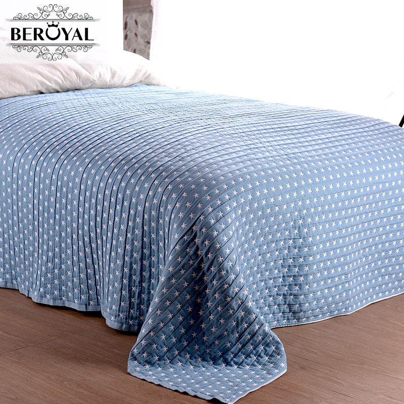 New 2017 Blanket 1piece 150 200cm Cotton Throw Blanket Three Layers Gauze Brand Blanket Adult Super