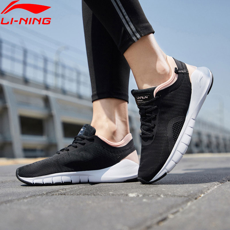 Li-Ning Women FLEXRUNNING Smart Moving Running Shoes Breathable Cushion LiNing Fitness Sneakers Sport Shoes ARKP004 XYP883 Футболка