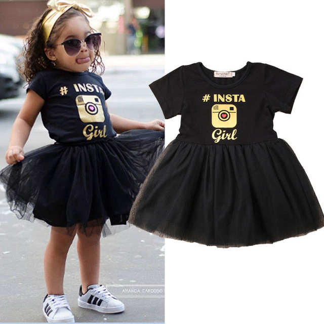 7e1766cc069da US $4.34 13% OFF|Summer Toddler Kids Baby Girl Dress Camera Print Patchwork  Tutu Tulle Princess Girls Holiday Party Dresses Sundress Clothes-in ...