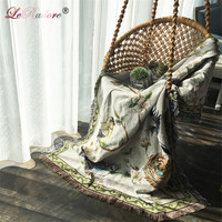 LeRadore Thicken Cotton Tapestry Vintage American Country Style Table Cloth Woven Sofa Blanket Towel Tapestry Blankets