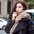 Winter Scarf Luxury Brand For Women Thick Cashmere Cotton Blended Solid Scarf Shawl Super Good Quality Crimping Dual Scarves