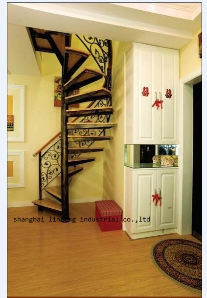 Купить с кэшбэком iron art spiral staircase (LH-SC013)