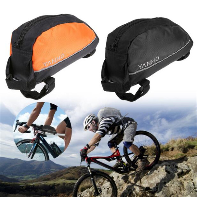 <font><b>YANHO</b></font> Durable Oxford <font><b>Bike</b></font> Front Frame <font><b>Bag</b></font> Saddle <font><b>Bag</b></font> MTB Mountain Road Riding Bicycle <font><b>Bag</b></font> Tools <font><b>Bags</b></font> with Reflective Strip image