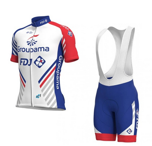 2018 new Pro team groupama FDJ cycling jerseys Bicycle maillot breathable Ropa Ciclismo MTB Short sleeve bike cloth 9D GEL