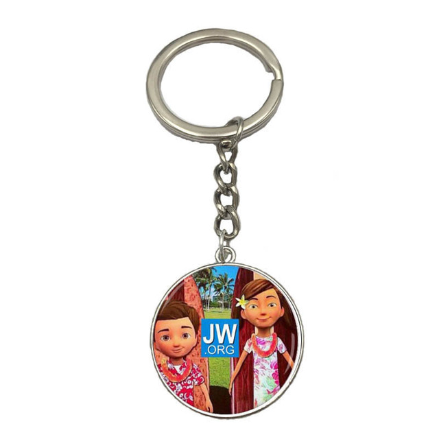 US $4 9 |jw org Caleb and Sophia Keyring Key chain -in Pins & Badges from  Home & Garden on Aliexpress com | Alibaba Group