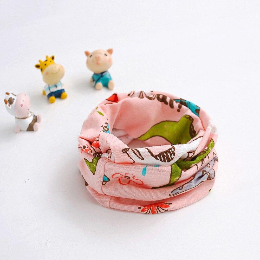 Toddler Baby Girls Boys Scarf Animal Pattern Stitching O-ring Scarf Neck Warmer