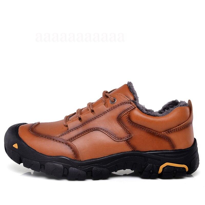 38 Grande brown Hiver En Fourrure Bottes Hommes Taille Avec Chaussures Militaire Doux Et Neige Black 50 Maismoda Chaud Yl462 Super Véritable Cuir Randonnée NOPZkX8wn0