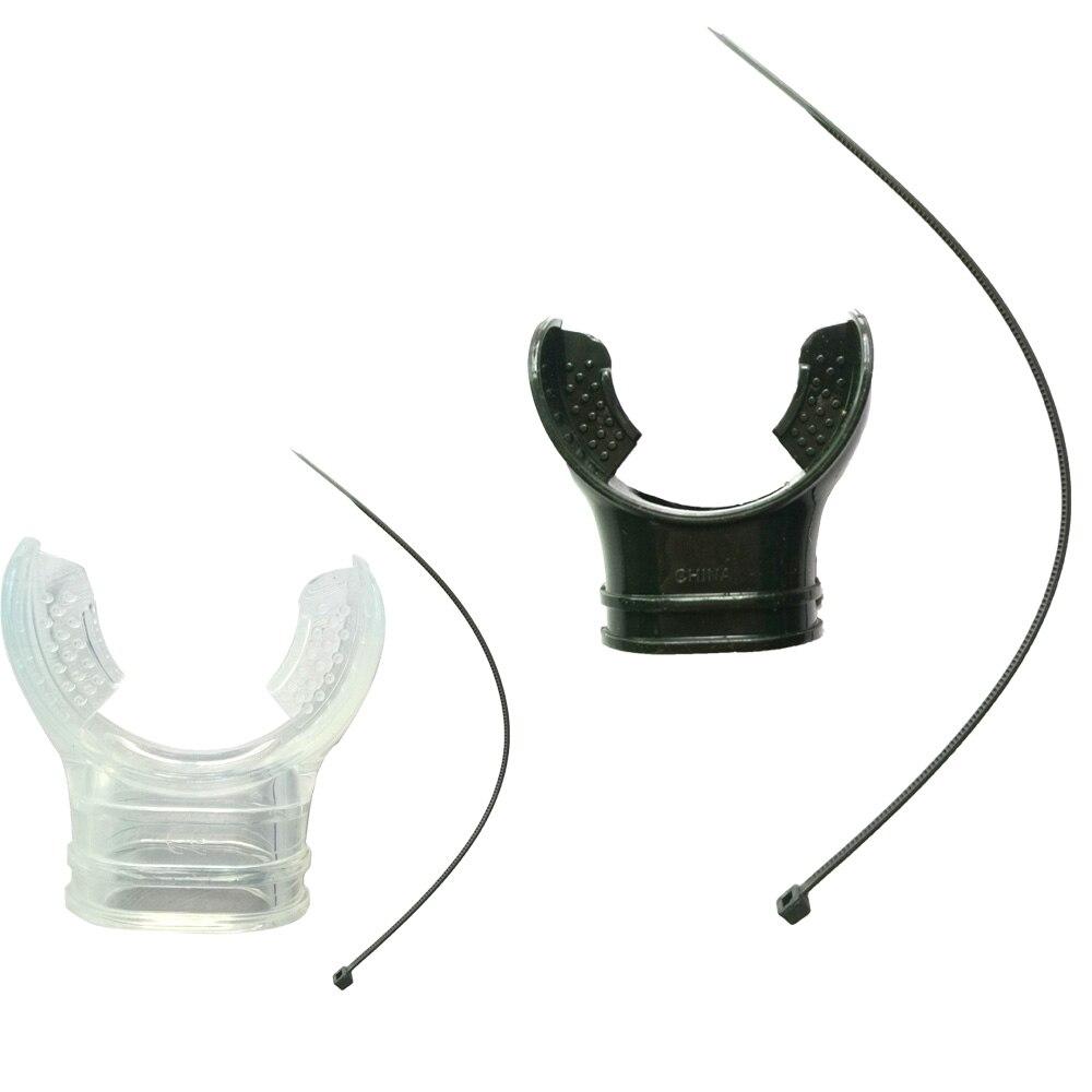Silicone Soft Scuba Diving Snorkel Mouthpiece Bite Regulator Non-toxic Diving Equipment