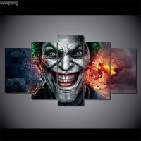 Wall Art 5 Pieces Canvas Prints Batman Joker Comics Abstract painting Panels Poster Pictures For Living Room