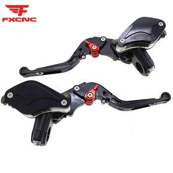 CNC Adjustable Folding Extendable Universal Motorcycles Master Cylinder Reservoir Hydraulic Brake Clutch Levers Set