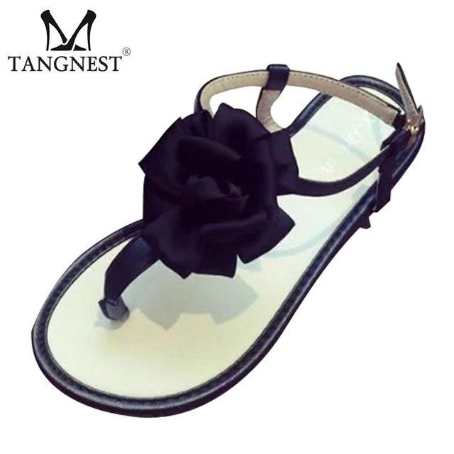 3544f4b6e93375 Women Flats Sandals 2017 Summer Style Flower Gladiator Sandals Women  Slip-on Flip Flops Leisure Beach Sandals Woman XWZ2924