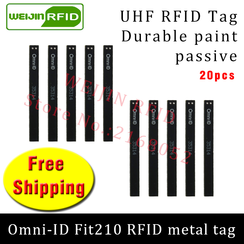 UHF RFID metal tag omni-ID fit 210 915m 868mhz Alien Higgs3 EPC 20pcs free shipping durable paint very thin passive RFID tags uhf rfid metal tag 915m 868m epc iso18000 6c 20pcs free shipping tools management 12 7 1 2mm thin ceramics passive rfid tags