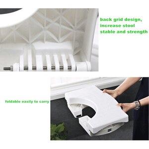 Image 5 - Multi função dobrável toalete banqueta banheiro potty toalete agachamento postura adequada passo portátil para casa de banho transporte da gota