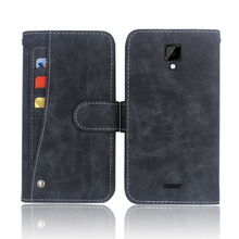 купить Hot! Highscreen Power Four Case High quality flip leather phone bag cover case with Front slide card slot онлайн