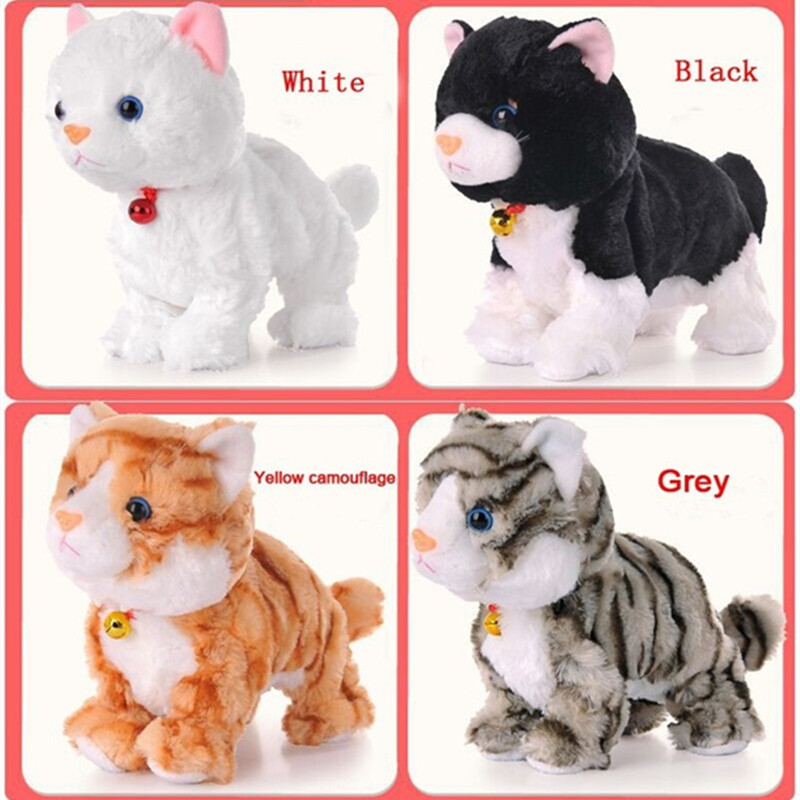 New Year Christmas Toys For Children Gift Electronic pet electric cat BrinquedosWalking Barking Musical Interactive Robot Cat