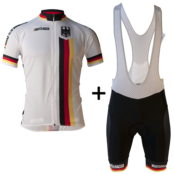 ALEMANIA Equipo Bicicleta Ciclismo Jersey Ropa de bicicleta Ciclismo Ropa Hombres Verano Pro Bike Jersey Ropa Ciclismo