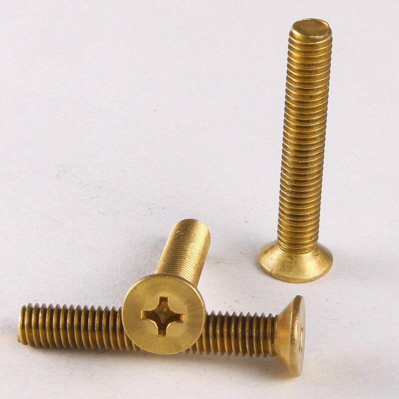 25PCS Special Copper Screws Phillips Head Screws / Flat Machine Screw / Countersunk Head Machine M3 * 6 GB819 20pcs m3 6 m3 x 6mm aluminum anodized hex socket button head screw