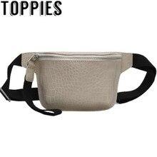 Waist-Bag Korean-Fashion Zipper Women Pu Trendy