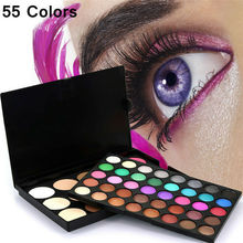 55 Colors Gliltter Eyeshadow Palette Matte Eye Shadow Pallete Shimmer and Shine Nude Make Up Pigment Set Kit Cosmetics