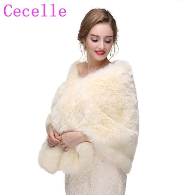 Winter Cream Bridal Faux Fur Wrap Bridal Wraps Fur Stole Fur Cape