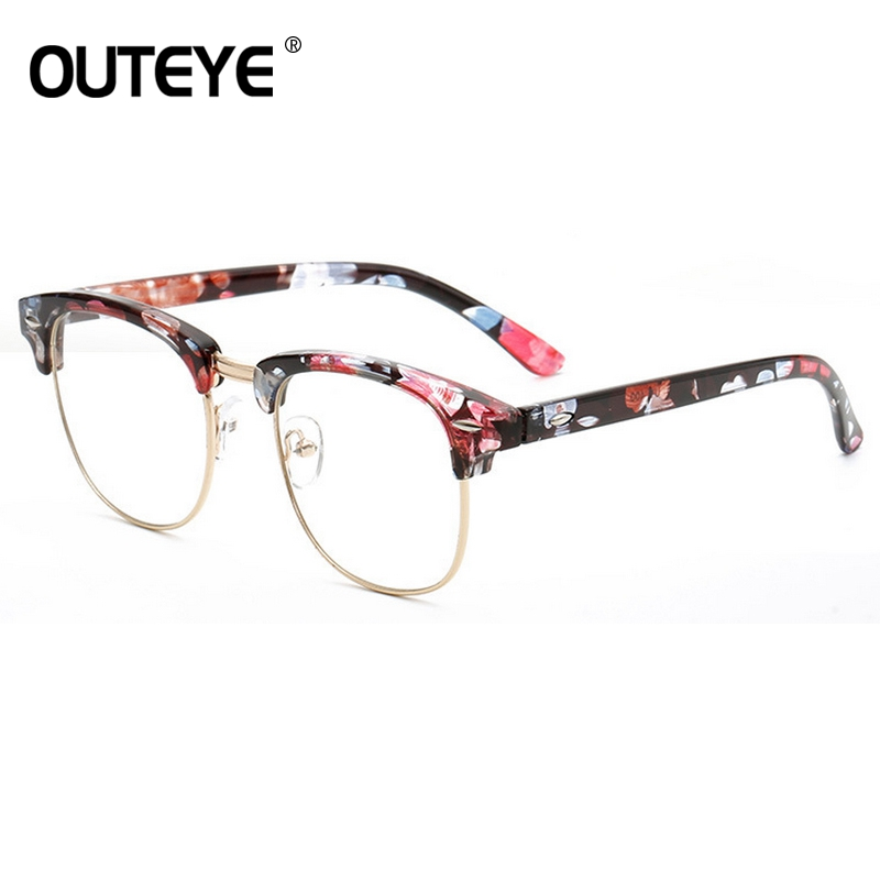 Retro Clear Lens Glass Fake Eyewear 2018 Optical Eye Glasses Frames For Women Vintage Eyeglasses Transparent Myopia Glass Frames
