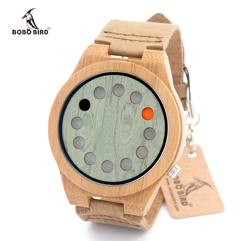 2016 New Designer Fashion Mens Watches Business Bamboo Wooden Watch Luxury Brand BOBO BIRD Casual Clock