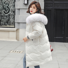 Parkas winter jacket women Coat 2018 Fashion Cotton Padded Jacket Long Style Big Fur Hooded Slim Parkas Thicken Female Outerwear