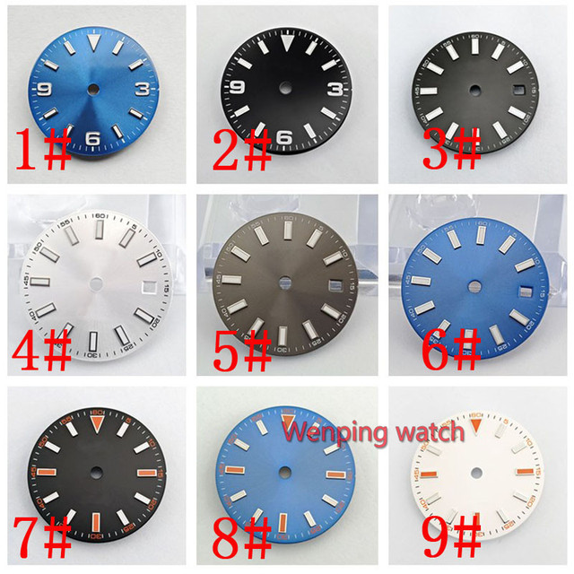 29 mm Series Dial diameter size Watch part watch face miyota 8215 821A mingzhu 2813 3804 automatic movement P868