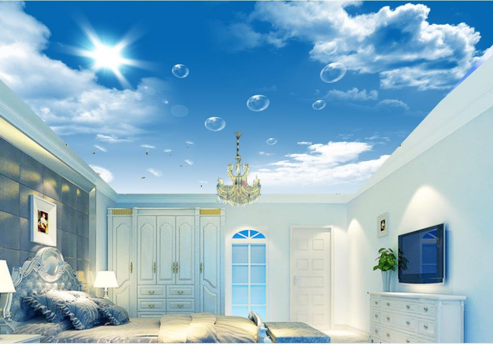 Top sky blue ceiling wallpapers for Ceiling mural wallpaper