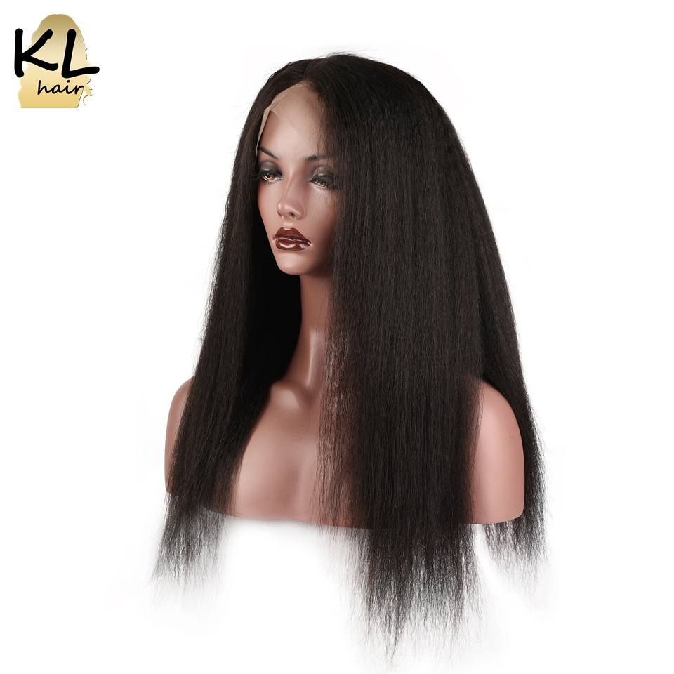 KL Hair Lace Front Human Hair Wigs Kinky Straight Natural Color Brazilian Remy Hair Lace Wigs For Black Women With Baby Hair
