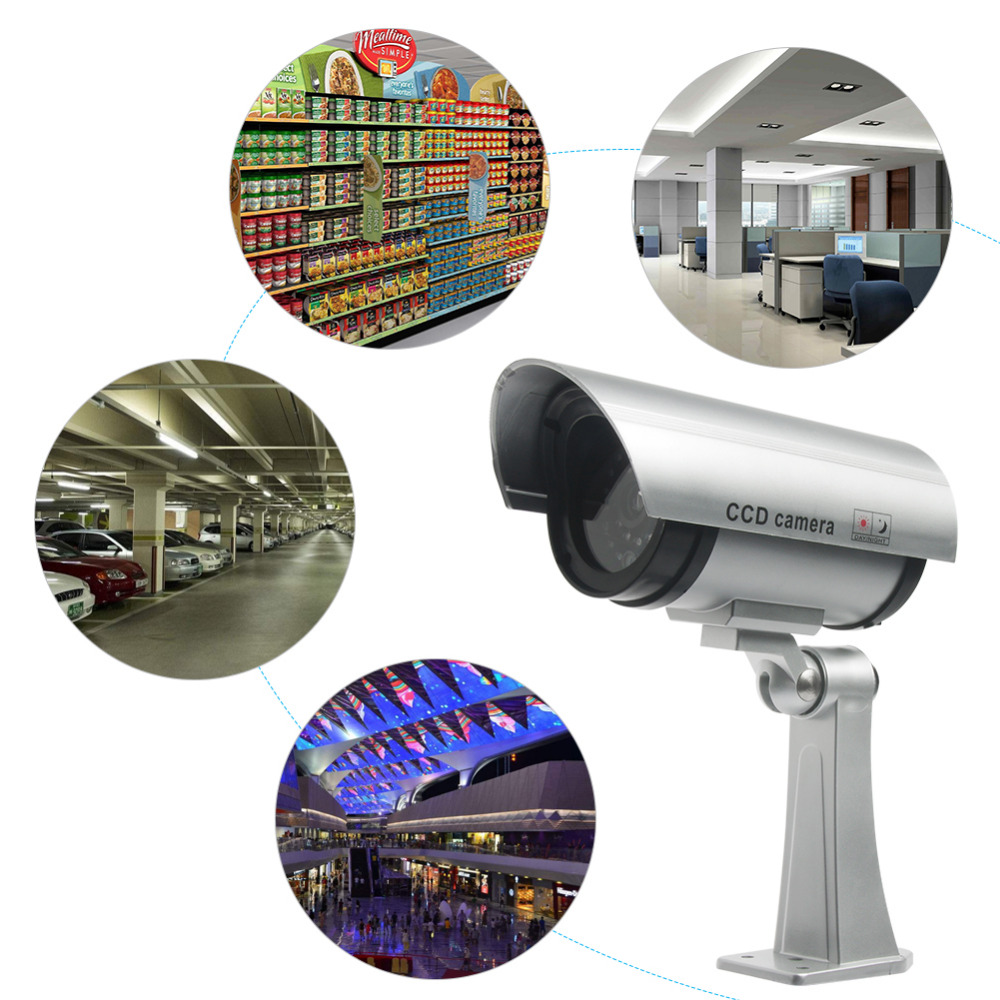Defeway Wireless Home Security Fake Camera Simulated video Surveillance indoor outdoor Surveillance Dummy Ir Led Bullet camera in Surveillance Cameras from Security Protection