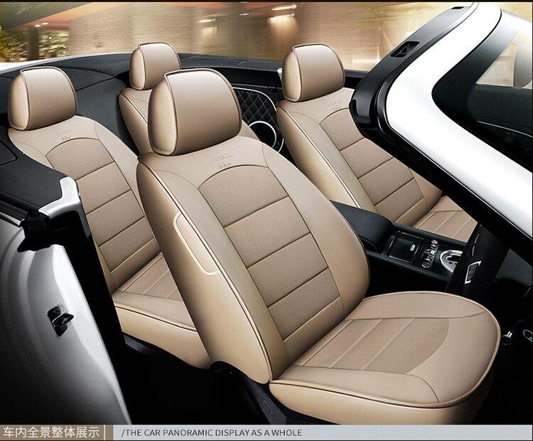 Housse de siège de voiture en cuir véritable sur mesure pour cadillac SRX ESCALADE ATS Automobiles