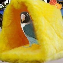 6 Colors Warm Canary Hut Nest Parrot Bird Hamster Hammock Hanging Cave Plush Tent Bed Bunk Parrot With Buckles 16*10*12cm