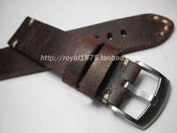 Rétro fait à la main 18 19 20 21 22mm hommes Bracelet de montre en cuir véritable Bracelet de haute qualité Bracelet ceinture Bracelet pour Omega/Zenith/IWC