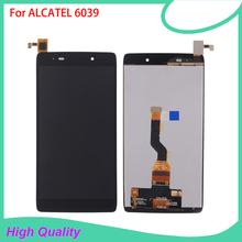 HotSelling LCD Display For Alcatel 6039 6039A 6039K 6039Y Touch Screen BlackColor 100 Guarantee Mobile Phone