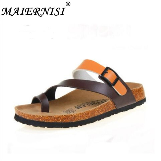 0e68b11f1cce 2019 Hot sales Fashion Summer Cork Slipper Sandals Men Casual Beach Mixed  Color Flip Flops Slides Shoe Flat size 35-45 eur