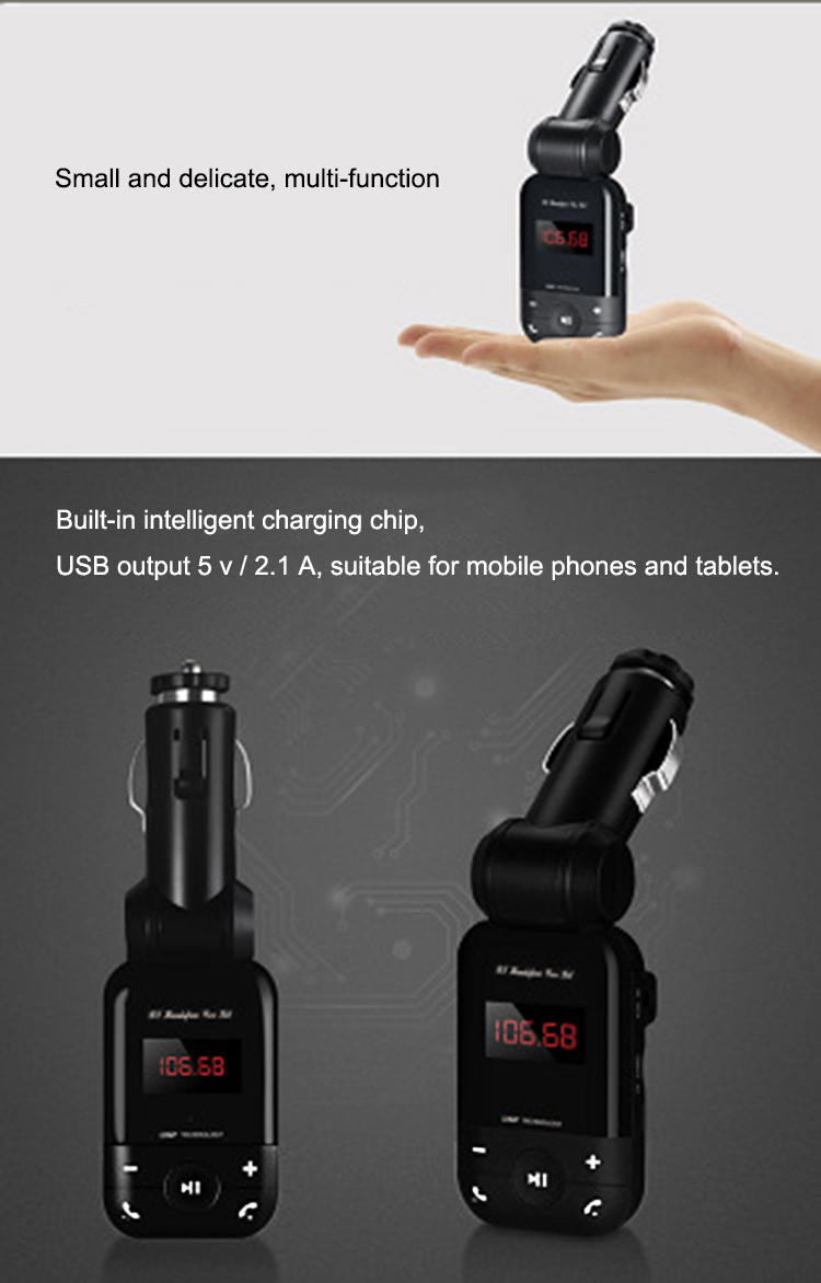 New 12V-24V auto stereo bluetooth hands free car kit FM transmitter U disk TF card MP3 music player voiture bluetooth telephone 8